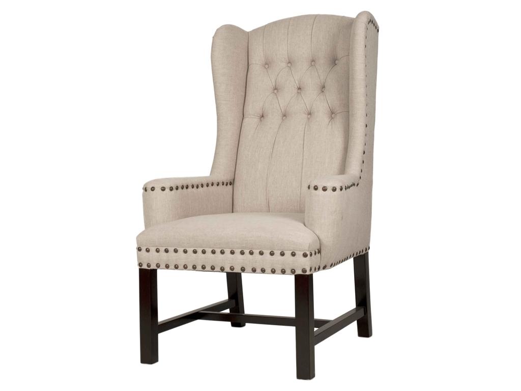 white tufted chair