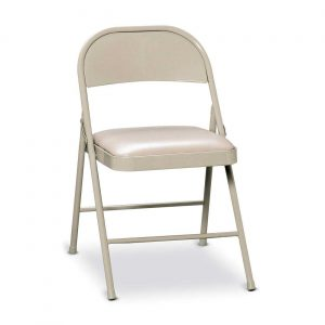 white upholstered chair hon white metal folding padded chairs
