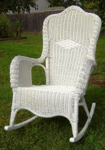 white wicker rocking chair il fullxfull