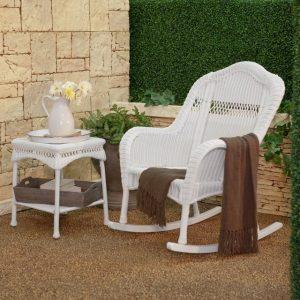 white wicker rocking chair modern rocking chairs