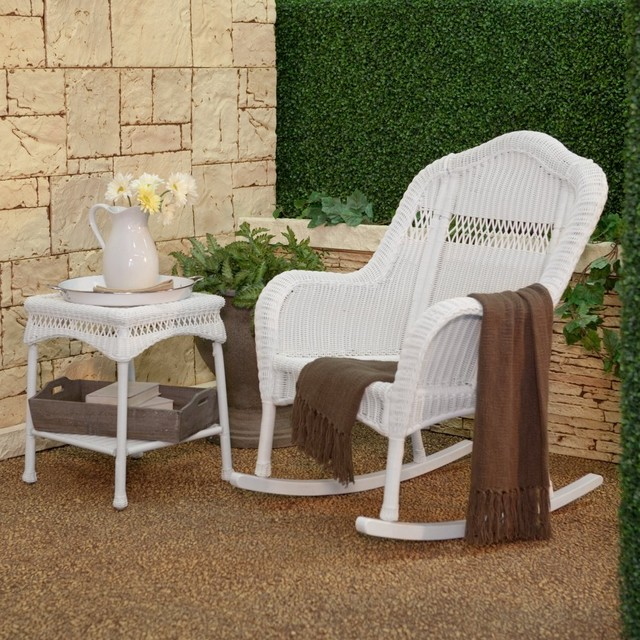 white wicker rocking chair modern rocking chairs