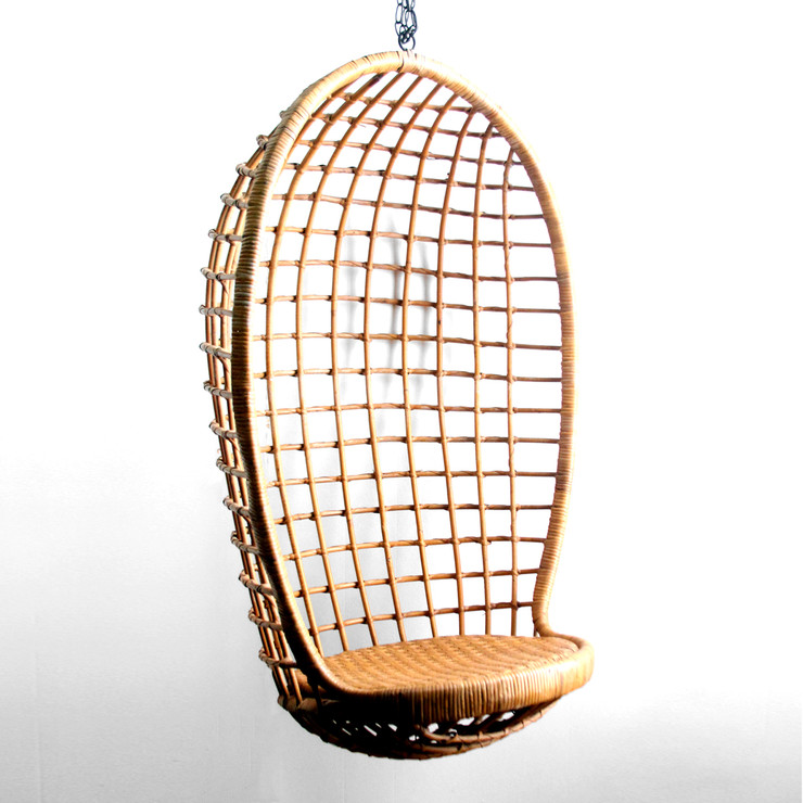 wicker hanging chair