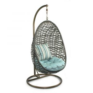 wicker hanging chair egg shaped hanging chair