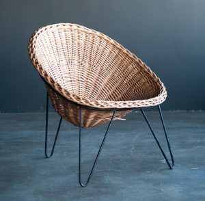 wicker lounge chair l l