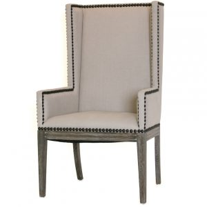 wing dining chair nailhead dining chair arms cosmo chic