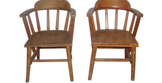 wooden captains chair l