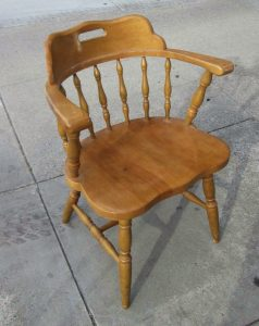 wooden captains chair woodchair