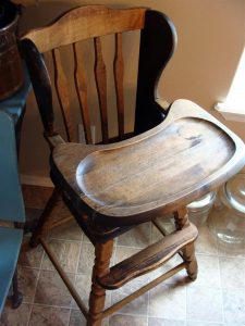 wooden high chair for sale b ()