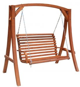 wooden swing chair o