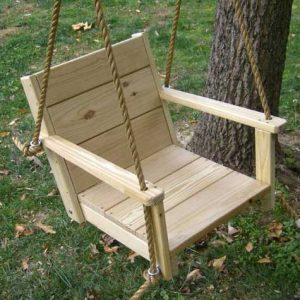 wooden swing chair wcs