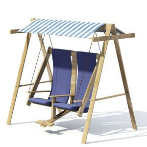 wooden swing chair wooden blue garden swing rocker chair d model efe bec dacd