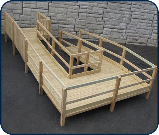 wooden wheel chair ramp
