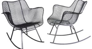 wrought iron rocking chair z