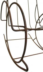 wrought iron rocking chair p l