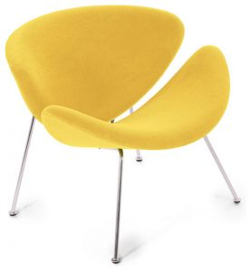 yellow wingback chair modern chairs
