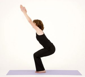 yoga chair poses chair pose utkatasana