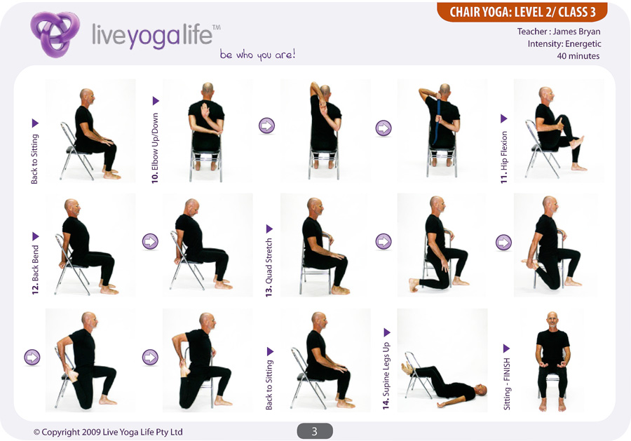 yoga chair poses