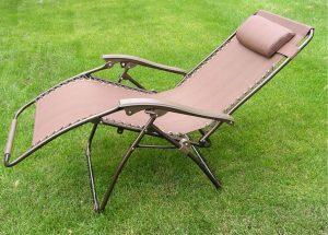 zero gravity lawn chair brown